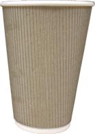 Бумажный стакан 300-330 мл со слоем из микрогофрокартона