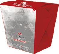 Коробка WOK сборная с замком 500 мл с печатью