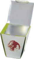 Коробка WOK сборная без замка 750 мл с печатью