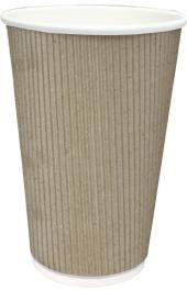Бумажный стакан 500 мл со слоем из микрогофрокартона