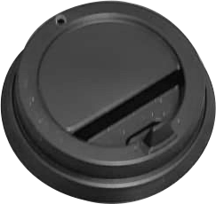 Черная крышка с отрывным носиком