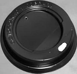 Черная крышка с отверстием для питья