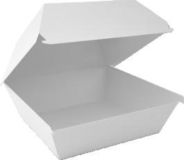 Коробки для гамбургеров без печати в ассортименте