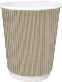 Бумажный стакан 250 мл со слоем из микрогофрокартона